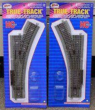 LOT of 2 - HO Scale ATLAS # 478 & # 479 TRUE-TRACK LT & RT Manual Turnouts