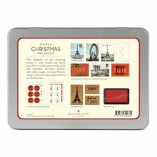 Cavallini - Mailing Set - Paris Christmas - Cards, Stamps, Stickers & Ink Pad