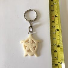 Collectible Plastic Carved Turtle Hawaii Keychain Key Tag Key Ring