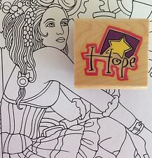Hope Inspirational Word Text Rubber Stamp Thinking of You Get Well Religious