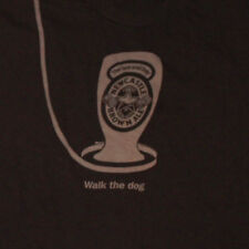 Newcastle Brown Ale T-Shirt XL Walk the Dog Pint Glass Leash Beer Alcohol