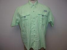 EUC Men's Columbia Sportswear PFG sz. Large 100% Nylon Green SS Shirt