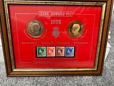 1936 King Edward VII Framed Coin & Stamp Commemorative Collection