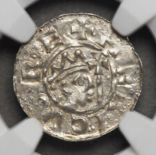 NETHERLANDS, Friesland-Dokkum. Bruno III, 1050-57, Silver Denar, NGC MS65, GEM!