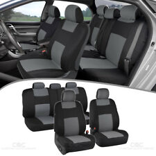 Universal Car Seat Covers w/ Split Bench Zippers for Auto SUV Van Truck - Gray