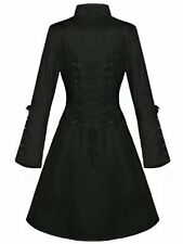 Women's Trench Coat Double-Breasted Slim Gothic Popular Fashion Women Costume S