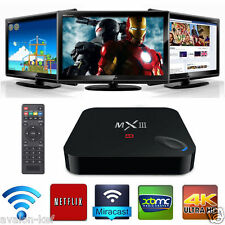 XBMC Quad Core MX3 Android 4.4  Smart TV Box 4K 2GB WIFI Bluetooth Tele Gratuite