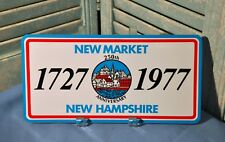 New Hampshire Front Plate Single N.H. Newmarket 250th 1977 Commemorative