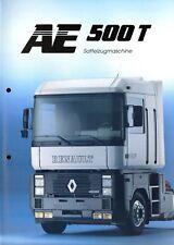 Renault AE 500 T Sattelzugmaschine Prospekt 1992 3/92 brochure tractor camion