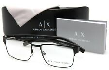 BRAND NEW ARMANI EXCHANGE AX 1019 6063 BLACK MATTE EYEGLASSES FRAME 54-17-140mm