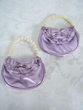 Set of 2 Purple Metallic Toddler Hand Bags