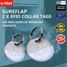 2 X SureFlap RFID Collar Tags Microchip Alternative SureFeed Feeder Pet Cat Door