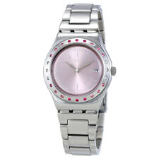 Swatch Pinkaround Pink Dial Ladies Stainless Steel Watch YLS455G