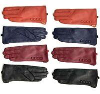Women Leather Winter Gloves Premium Quality Genuine Soft Nappa Driving Warm Fur