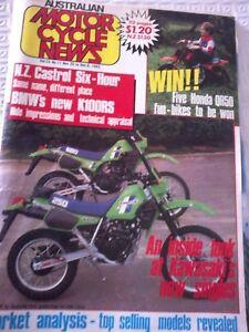 Australian Motorcycle News December 1983 Honda QR50 BMWK100RS Supercross Triple