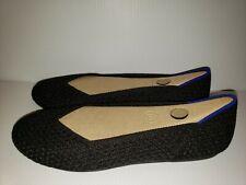 Rothys size 7.5 black honeycomb round toe womens ballet flats