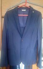Zara men's medie 38 Slim Fit Cappotto di colore Blu Rrp £ 60