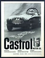 1961 Austin-Healey 3000 Road Racer photo Castrol Motor Oil vintage print ad
