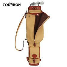 Tourbon 3way Golf Bag Hard Golf Driver Pouch Training Club Carry Bag Lightweight
