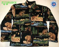 ZooFleece Berber Jacket Black Deer Moose Tiger Animal Coat Gift Sweater L-XL