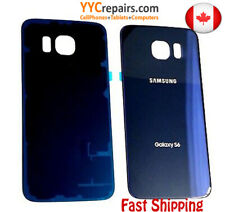 NEW OEM Back Cover Glass replacement lens Samsung Galaxy S6 G920 G920W8  BLUE