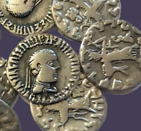 Archaios   Indo-Greek Baktrian Silver Drachm Apollodotos II / Athena Alkidemos
