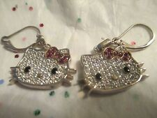 Hello Kitty Sterling Siver and CZ Eearrings