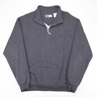 FILA  Grey 00s Collared Sweatshirt Mens XL