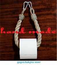 Toilet Paper Holder Paper Roll Holder for Bathroom Nautical Rope Decor Handmade