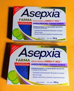 2x ASEPXIA Jabon Ultra Humectante p/Piel Seca † 100g c/u† Extracto de Pepino†MEX