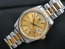 Mens Pre Owned CYMA SWISS Made Automatic Wristwatch Two Tone ETA 2834-2 - 25 Js