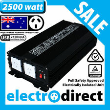 2500W (5000 watt max) Power Inverter 12-240V M Sine Wave Laptop Charger Car Boat