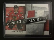 2008-09 UD SPX winning Materials dual jersey Jonathan Toews Blackhawks