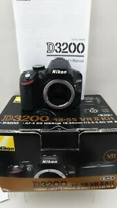 Nikon D3200 AF-S DX Nikkor (BODY ONLY) with charger,NO battery and strap Boxed