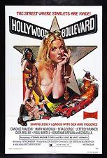 HOLLYWOOD BOULEVARD * CineMasterpieces SEXPLOITATION MOVIE POSTER STAR NM-M 1976