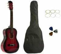 Star Kids Acoustic Toy Guitar 31 Inches Red with Bag, Strings & Picks