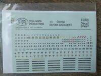 Verlinden Productions 382 German Uniform Badges WWII 1:35 Scale Decal Sheet