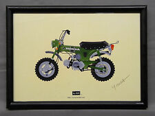 [illustration] HONDA DAX illustration with frame Japan