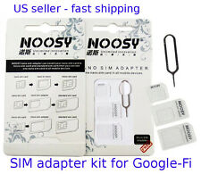 SIM adapter KIT 2x for GOOGLE-FI sim cards to micro & standard Genuine Noosy