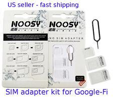 SIM adapter KIT 2x for GOOGLE-FI sim cards to micro & standard Genuine Noosy