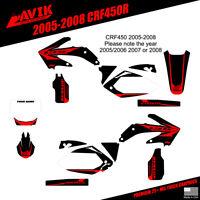 Honda CRF450 2005-2008 Woody shroud graphics black highlight FREE SHIPPING!!!