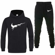 Men's Tracksuit Set Fleece Hoodie Top Bottoms Joggers Jogging Gym Trackies Suit