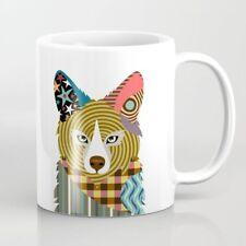 Mug Fox Coffee Wild Animal colorful Ceramic White Drink-ware Cup Gift 11oz