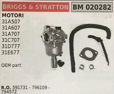 Genuine Briggs /& Stratton Carb Carburatore 590399 sostituisce 796077 COMPLETO CARB