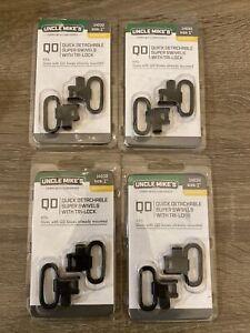 "Uncle Mike's #14032 1"" QD Quick Detachable Super Swivels With Tri-Lock 4 Lot"