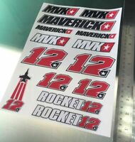 TP Maverick Vinales Abziehbild Aufkleber Großer Aufkleber Set (14 Sticker) /993