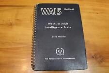 1955 Wais Wechsler Adult Intelligence Scale Manual & Digit Symbol Key