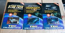 STAR TREK lot of 3 phone cards new sealed 1995 next generation Voyager TEC cards