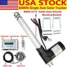 6000n 1320lbs Lift 12v 8 Linear Actuator Solar Tracker Controller Switch Kit El