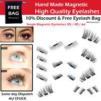 4pcs  3D False Magnetic Eyelashes No Glue Natural Handmade Extension Eye lashes